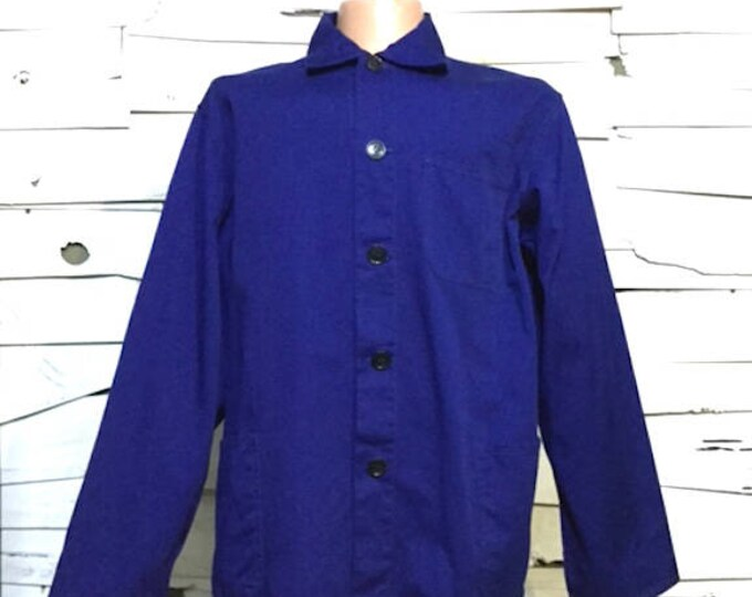 Vintage Work Jacket Work Blue Chore Coat (os-ewj-19)