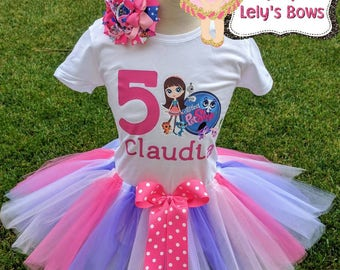 Personalized Littlest Pet Shop outfit, personalized birthday shirt , Littlest Pet Shop shirt, Littlest Pet Shop birthday outfit, Pet shop