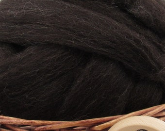 Zwartbles Wool Top Roving - Undyed Spinning & Felting Fiber / 1oz