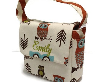 Preschool Lunch Bag, Toddler Lunch Bag, School Lunch Bag, Eco Friendly, Owl Lunch Bag, Boys Lunch Bag, Girl Lunch Bag, Lunch Tote, Snack Bag