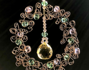 Crystal Sun Catcher - Gold