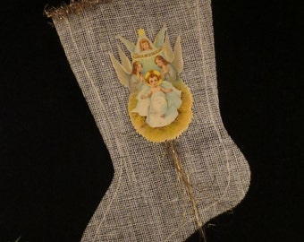 Reproduction Victorian Christmas Stocking Ornament