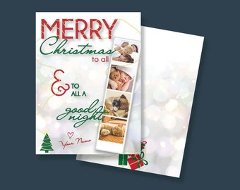 Christmas Photo Booth Card - Add your own photos!