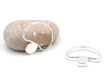 5 Silver mushroom charm Platinum 34mm for resin creations