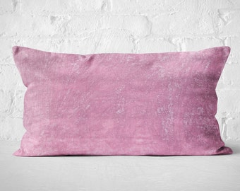 Pink Velvet Lumbar Pillow | Luxury Velvet Pillow | Boho Lumbar Pillow | Pink Velvet Lumbar Cushion | Girls Room Decor
