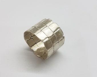 Mens wedding band, silver wedding band men, mens wedding ring men braided ring, wide band ring, silver ring men, rustic wedding band silver