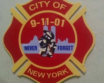 "91101 City Of New York Never Forget Decal (4"")"