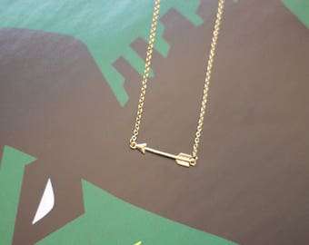 Tiny Arrow Necklace