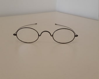 1800s Reading Glasses; Ready to Wear; +0.75 Slight Strength; Engraved on Bridge Geo. H. Brown; Excellent Condition; Reenactors; Civil War