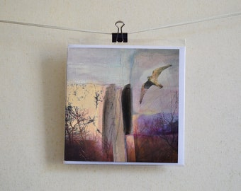 Greetings Card - 'On A Wing And A Prayer''   From an Original Painting by Kate Boyce