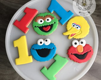 Elmo and Friends Cookies with Numbers