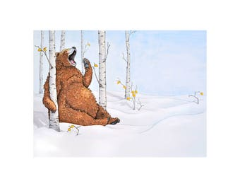 Yawning Bear from Waiting Through Winter