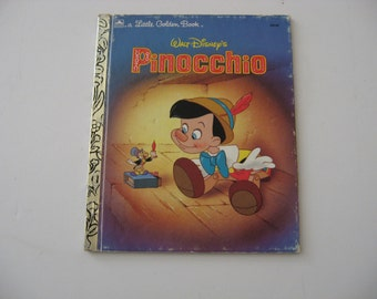 1990 Walt Disney's Pinocchio -  Illustrated Little Golden Book