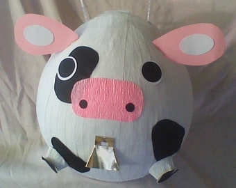 Cow Pinata With Cowbell