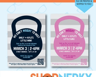 We Can't WEIGHT to Meet Baby Shower Invitation  |  PRINTABLE for Boy or Girl
