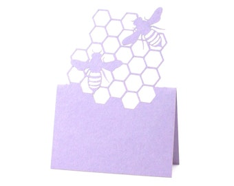 Bumble Bee Place Cards set of 10 - Escort Cards,Wedding Place Cards,Bee,Baby Shower,Beehive,Bird,Insect,Rustic Wedding,Bridal,Honeybee,Plum