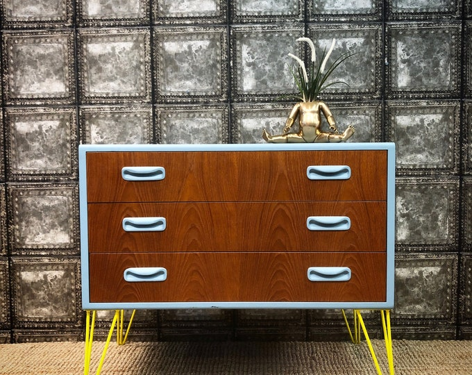 In aid of British Heart Foundation Gplan mid century chest of drawers