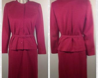 Vintage Leslie Fay Petites Pink Suit