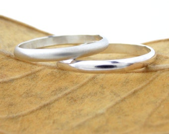 Simple Sterling Domed Ring: sterling silver ring, domed ring, plain ring, simple ring, silver ring, wedding band, smooth band, smooth ring