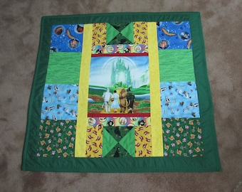 "Wizard of Oz Yellow Brick Road Quilt Blanket 43"" x 40"""