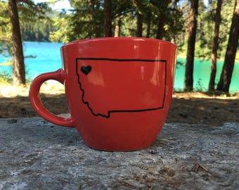 Red Montana Mug