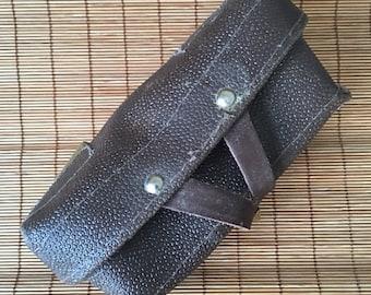 Leather Steampunk Trinket Pouch