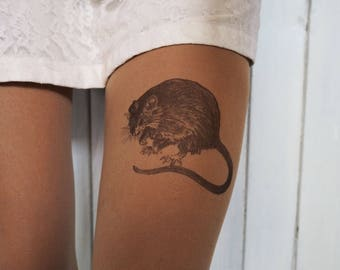 Hand painted mouse tights
