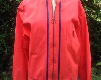 Vintage 1960s red wind-cheater, Swingster, motor racing jacket. Sports, Mod, Mid Century Retro menswear