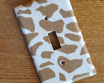Giraffe Pattern Switchplate - light switch, outlet, double, triple, rocker, slider