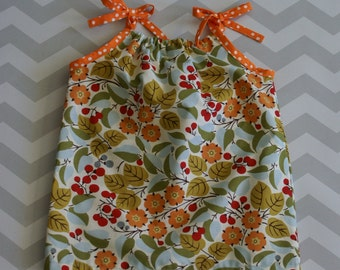Hand Sewn Cotton Pillow Case Dress with Adjustable Straps