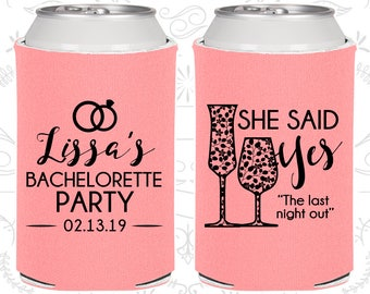She Said yes, Personalized Bachelorette Gift, The last night out, Bachelorette Favors (60097)