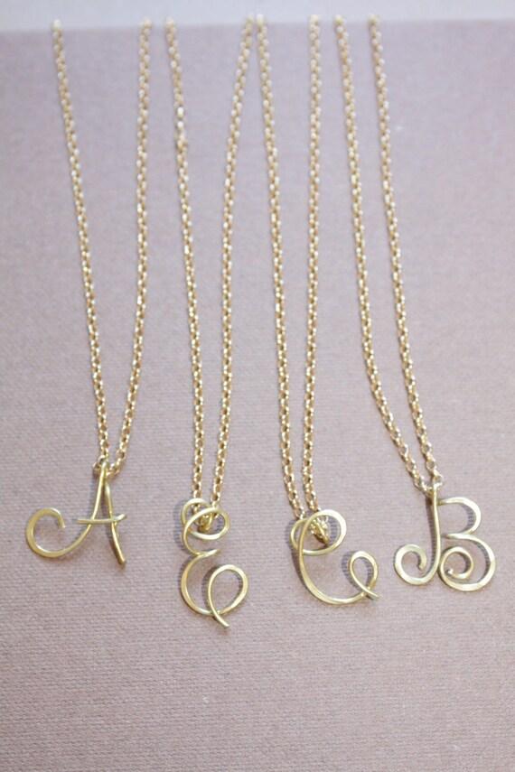 Erste Großbuchstaben Halskette personalisierte kursiven