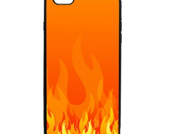 Fire Flame Print Pattern Phone Case Samsung Galaxy S5 S6 S7 S8 S9 Note Edge iPhone 4 4S 5 5S 5C 6 6S 7 7S 8 8S X SE Plus