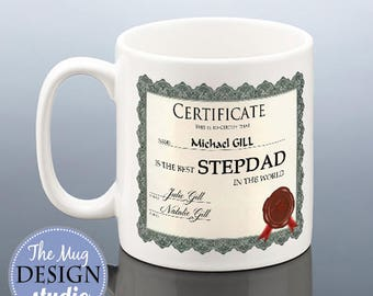 BEST STEPDAD Mug / Personalised Father's Day Stepdad Gift / Stepdad Birthday Gift / Best Step Dad Cup Stepfather Fathers Day Present Mug
