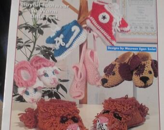 Slippers For Kids, White Birches, Pattern Leaflet #101028, 1995