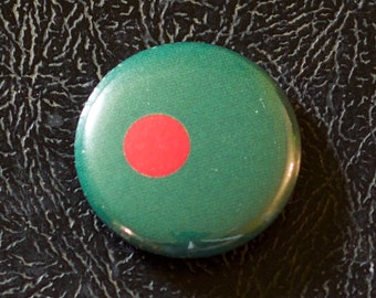 "1"" Bangladesh flag button, country, pin, badge, pinback, Made in USA"