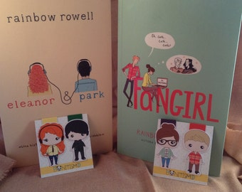 Magnetic bookmarks - Fangirl, Eleanor & Park, Rainbow Rowell characters