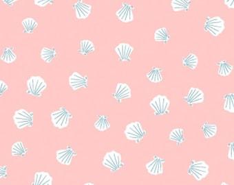 Fabric by the Yard--Dear Stella Seas the Day Seashells in Nectar