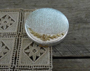 Silver & Gold Tone Du Barry Powder Compact