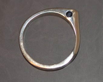 Blue Sapphire Stackable point ring