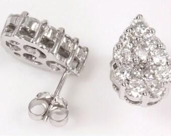 2 ct tw Diamond (G-H, SI3) Gold Stud Earrings