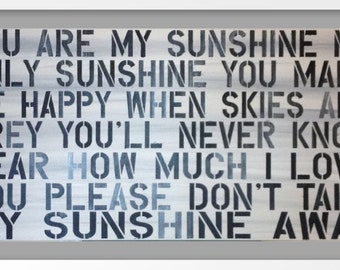 "You Are My Sunshine Painting 24""x48"""