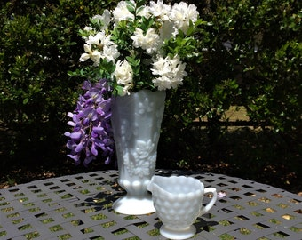 Milk Glass Anchor Hocking,  Bubble Creamer.