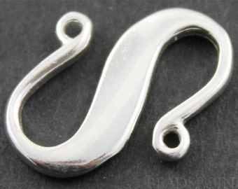 """Sterling Silver """"S"""" Hook,1 Piece, Sold INDIVIDUALLY, Just buy as many you need,(SS/995)"""