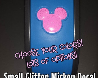 Small Mickey Vinyl Decal for Magic Band - Solid & Glitter