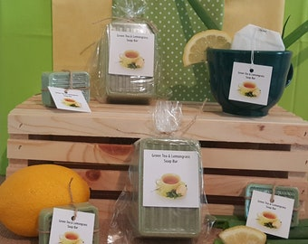 Green Tea Lemongrass Soap Bar