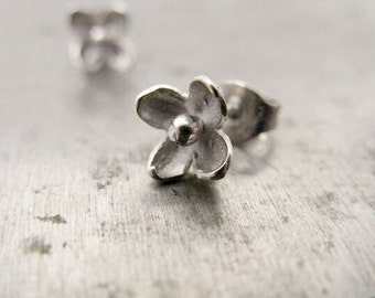 Lilac Stud Earrings in Sterling Silver