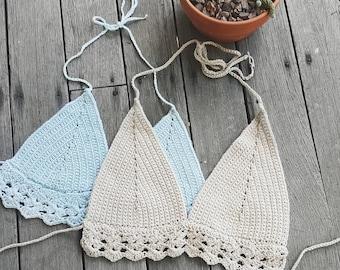 Crochet Shell bikini Top