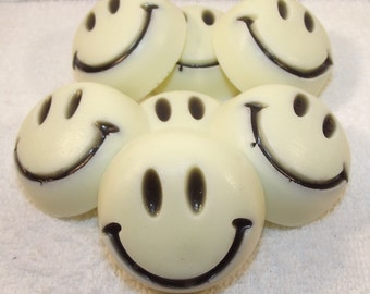 Put On A Happy Face Glycerin Soap Set, Party Favor Soaps, Smiley Face Soaps, Birthday Party Favor, Wedding Party Favor, Bridal Favor