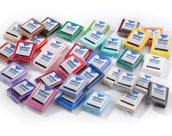 Set of 15 pieces of CERNIT NUMBER ONE polymer clay - choose any colors by yourself. Polymer clay Cernit. Oven baked clay